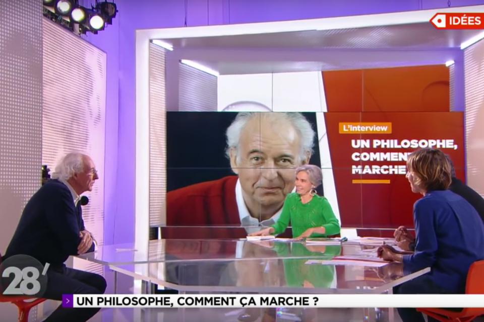 """ARTE, 28' Elisabeth Quin reçoit Roger-Pol Droit pour """"Comment marchent les philosophes"""" (10 premières mn)"""