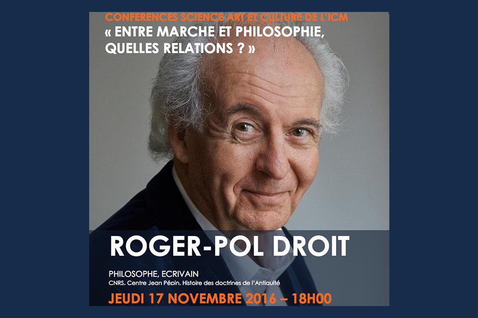 """17 novembre, 18 h Conférence """"Entre marche et philosophie, quelles relations ?"""" (ICM, Salpêtrière)"""