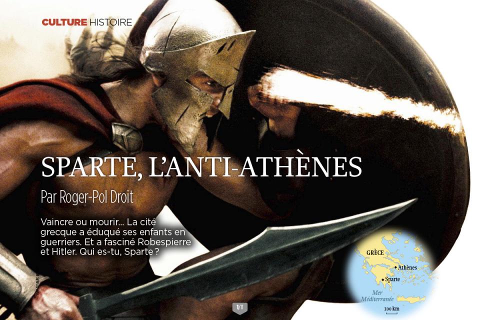 SPARTE, L'ANTI-ATHENES (Le Point, 27 juillet 2017)