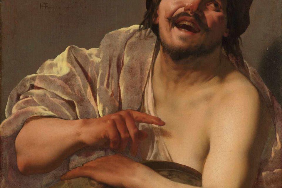 Démocrite d'Abdère pris de fou rire