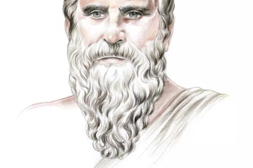 Illustration - Biographie. Diogène sans tonneau